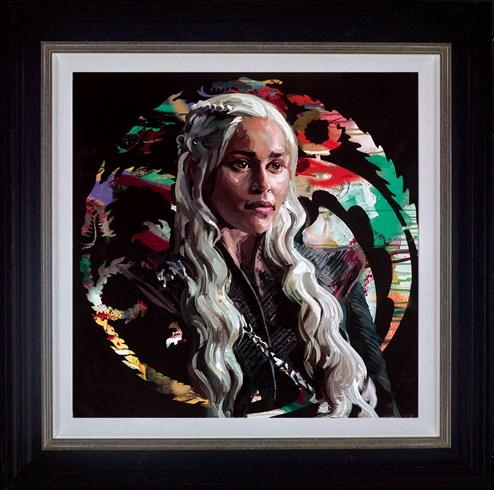 Mother of Dragons by Zinsky - Framed Embellished Canvas on Board