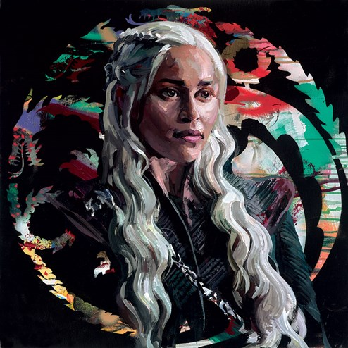 Mother of Dragons by Zinsky - Embellished Canvas on Board